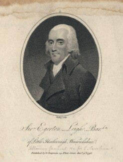 Sir Egerton Leigh, 2nd Bt, by William Ridley, published by  Thomas Chapman - NPG D5054