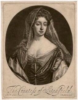 Charlotte Lee (née Fitzroy), Countess of Lichfield, by Isaac Beckett, after  Sir Godfrey Kneller, Bt - NPG D5092