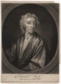 John Locke, by John Smith, after  Sir Godfrey Kneller, Bt, 1721 - NPG D5098 - © National Portrait Gallery, London