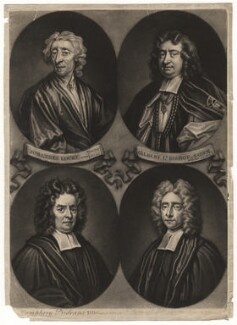 Gilbert Burnet; John Locke; Humphrey Prideaux; Samuel Clarke, by John Simon - NPG D5100