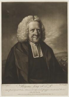 Roger Long, by Edward Fisher, after  Benjamin Wilson - NPG D5107