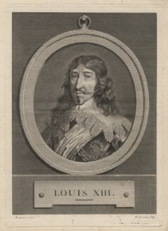 Louis XIII, by Jean Baptiste de Lorraine, after  Champagne - NPG D5108