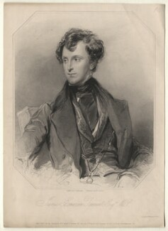 Sir James Emerson Tennent, 1st Bt, by Richard Austin Artlett, after  George Richmond - NPG D5115