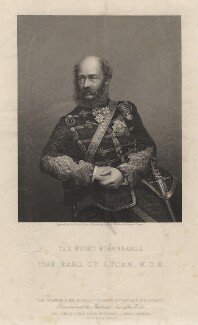 George Charles Bingham, 3rd Earl of Lucan, by Daniel John Pound, after a photograph by  John Watkins - NPG D5131