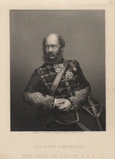 George Charles Bingham, 3rd Earl of Lucan, by Daniel John Pound, after a photograph by  John Watkins - NPG D5132