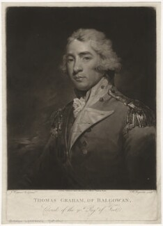 Thomas Graham, Baron Lynedoch, by Samuel William Reynolds, published by  John Jeffryes, after  John Hoppner - NPG D5144