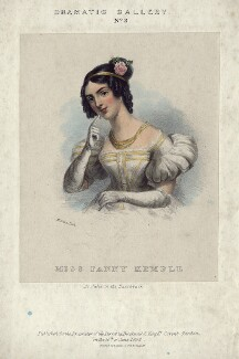Fanny Kemble as Julia in Knowles' 'The Hunchback', by Maxim Gauci, printed by  Lefevre & Co, published by  Bucknall - NPG D5158