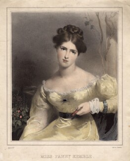 Fanny Kemble, by Jean Gigoux, printed by  Lemercier, after  Sir Thomas Lawrence - NPG D5159