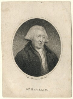 Charles Macklin, by William Ridley, after  Sir William Beechey - NPG D5171