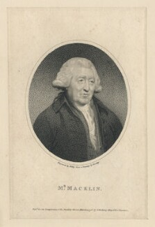 Charles Macklin, by William Ridley, published by  Thomas Bellamy, after  Sir William Beechey - NPG D5172