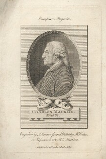 Charles Macklin, by John Corner, after  John Charles Lochée - NPG D5174