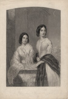 Mary Lowther Macleod; Elizabeth Macleod, by William Henry Mote, after  William Drummond - NPG D5181