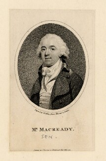 William Macready, by William Ridley, published by  John Parsons, after  John Edmond Halpin (Halpen) - NPG D5186