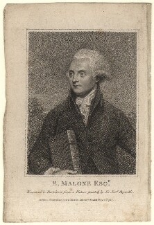 Edmond Malone, by Francesco Bartolozzi, after  Sir Joshua Reynolds - NPG D5194