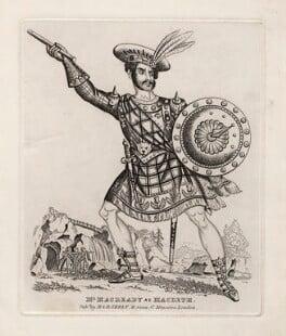 William Charles Macready as Macbeth, published by Martin Skelt, published by  Benjamin Skelt - NPG D5197
