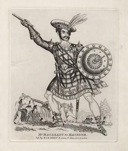 William Charles Macready as Macbeth, published by Martin Skelt, published by  Benjamin Skelt, 1820s-1830s - NPG  - © National Portrait Gallery, London