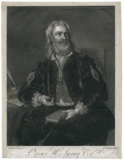Owen MacSwinny (or Swinny), by John Faber Jr, after  Jean Baptiste van Loo - NPG D5203