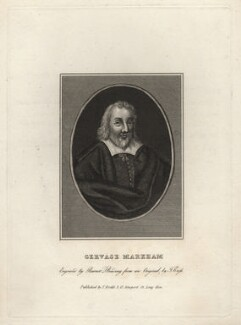 Gervase Markham, by Burnet Reading, published by  Thomas Rodd the Elder, after  Thomas Cross - NPG D5208