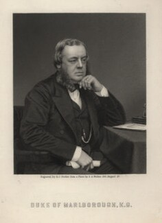 John Winston Spencer Churchill, 7th Duke of Marlborough, by George J. Stodart, after a photograph by  Samuel Alexander Walker, late 19th century - NPG D5213 - © National Portrait Gallery, London