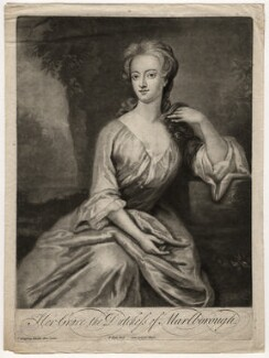 Henrietta ('Harriet') Godolphin (née Churchill), Duchess of Marlborough, by Francis Kyte, after  Sir Godfrey Kneller, Bt, early 18th century - NPG D5215 - © National Portrait Gallery, London