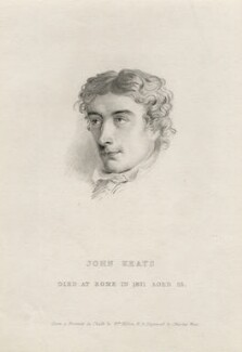 John Keats, by Charles Wentworth Wass, after  William Hilton - NPG D5220