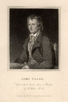 John Clare, by Edward Scriven, after  William Hilton - NPG D5221