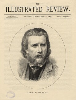 (Thomas) Gerald Massey, by Edward Taylor, by  Richard Taylor, published by  The Illustrated Review - NPG D5225