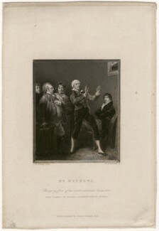 Charles Mathews ('Studying four of his most celebrated Characters'), by William Greatbach, published by  Richard Bentley, after  George Henry Harlow - NPG D5227