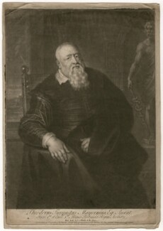 Sir Theodore Turquet de Mayerne, by John Simon, after  Sir Peter Paul Rubens - NPG D5236