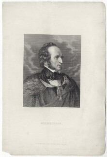 Felix Mendelssohn-Bartholdy, by Conrad Cook, published by  William Mackenzie, after  Frederic Leighton, Baron Leighton, mid 19th century - NPG  - © National Portrait Gallery, London