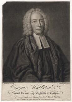 Conyers Middleton, by John Faber Jr, after  John Giles Eccardt - NPG D5253