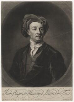 Jean-Baptiste Monnoyer, by George White, after  Sir Godfrey Kneller, Bt - NPG D5276