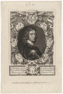 John Mordaunt, 1st Viscount Mordaunt of Avalon, published by William Richardson, after  William Faithorne, after  Adriaen Hanneman - NPG D5291