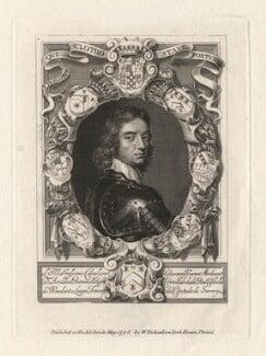 John Mordaunt, 1st Viscount Mordaunt of Avalon, published by William Richardson, after  William Faithorne, after  Adriaen Hanneman - NPG D5293
