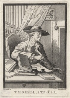 Thomas Morell, by James Basire, after  William Hogarth - NPG D5300