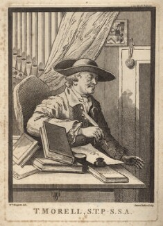 Thomas Morell, by James Basire, after  William Hogarth - NPG D5301