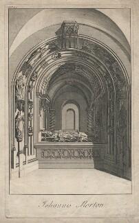 John Morton on tomb sculpture, by or after James Cole - NPG D5305
