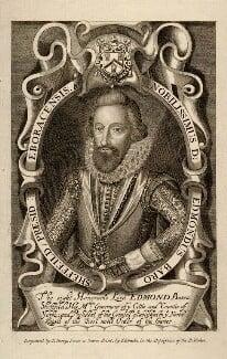 Edmund Sheffield, 1st Earl of Mulgrave, by T. Berry, after  Renold or Reginold Elstrack (Elstracke) - NPG D5316