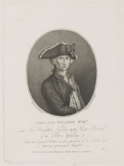 Horatio Nelson, by Robert Shipster, after  John Francis Rigaud - NPG D5336
