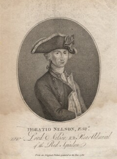 Horatio Nelson, by Robert Shipster, after  John Francis Rigaud, published 1797 (1786) - NPG D5339 - © National Portrait Gallery, London