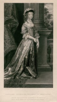 Margaret Cavendish (née Lucas), Duchess of Newcastle upon Tyne, by William Greatbach, after  Abraham Diepenbeeck, published 1846 - NPG D5346 - © National Portrait Gallery, London