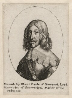 Mountjoy Blount, 1st Earl of Newport, by Wenceslaus Hollar, after  Unknown artist - NPG D5350