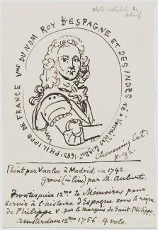 Philip V, by Sir George Scharf, after  Jean Baptiste van Loo - NPG D5356
