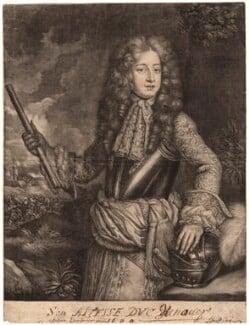 King George I when Prince of Hanover, published by Richard Tompson, after  Sir Godfrey Kneller, Bt, 1680 - NPG D5358 - © National Portrait Gallery, London