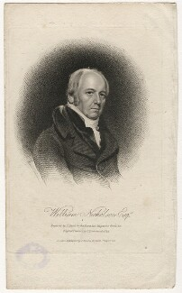 William Nicholson, by Thomas Blood, published by  James Asperne, after  Samuel Drummond - NPG D5361