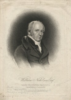 William Nicholson, by Thomas Blood, published by  James Asperne, after  Samuel Drummond - NPG D5362