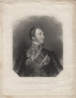 Hugh Percy, 3rd Duke of Northumberland, by William Holl Sr, or by  William Holl Jr, printed by  Wilkinson & Dawe, published by  R. Ryley, published by  James Fraser, published by  Sir Francis Graham Moon, 1st Bt, after  George Raphael Ward - NPG D5372