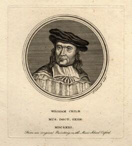 William Child, by James Caldwall, after  Unknown artist - NPG D5405
