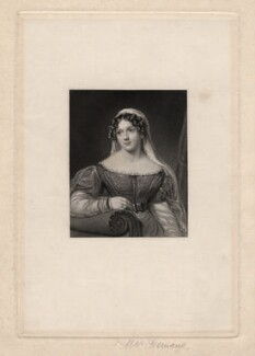 Felicia Dorothea Hemans, by Edward Scriven, after  William Edward West - NPG D5415
