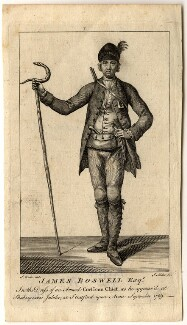 James Boswell in dress of Corsican chief, by J. Miller, after  Samuel Wale - NPG D5416